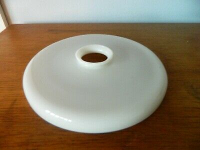 C 1930s French Coolie Pendant Lampshade  Opalescent White Glass # I