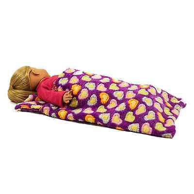 "18"" Doll PURPLE SLEEPING BAG Fits American Girl, Clothes, Clothing & Accessories"