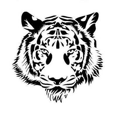 high detail airbrush stencil tiger head FREE UK  POSTAGE