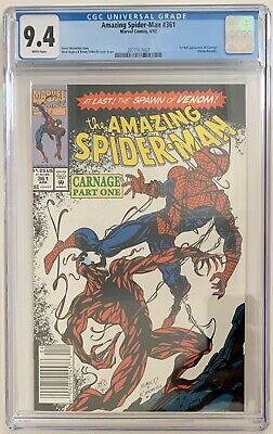 (1992) AMAZING SPIDERMAN #361 CGC 9.4! 1st CARNAGE! RARE NEWSSTAND VARIANT COVER