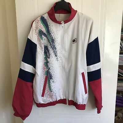 Vintage Shell Suit Jacket Top Festival Tracksuit Windbreaker 80s/90s Size M