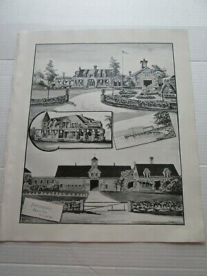 1892 New Hampshire Antique Map, Nestledown Zebley Farm, Weirs N.h.