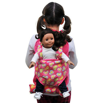 Child's Backpack &Doll Carrier Sleeping Bag For 18 In American Girl Clothes Pink