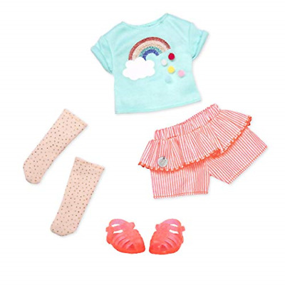 "Glitter Girls by Battat - Colorful As A Rainbow Summer Outfit -14"" Doll Clothes–"