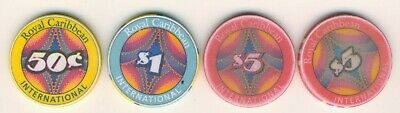 Lot of 4 Different Royal Caribbean International Casino Chips