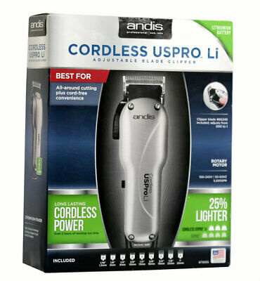 Andis Cordless US Pro Li Professional Hair Clipper/Trimmer BARBER