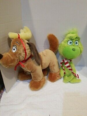 Build A Bear Baby Young Mini Grinch & Max the Dog Who Stole Christmas Stuffed