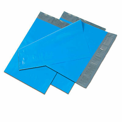 14.5x19 Blue Poly Mailers Shipping Envelopes Self Sealing Plastic Mailing Bags