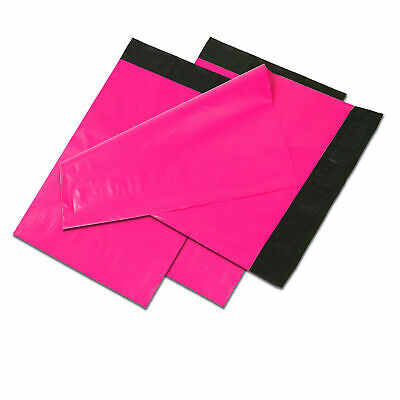 19x24 Hot Pink Poly Mailers Shipping Envelopes Self Sealing Plastic Mailing Bags