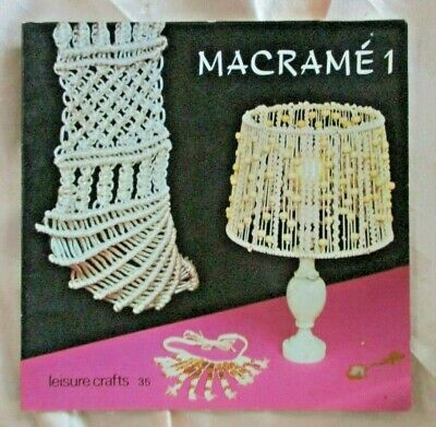 MACRAME Tutorial Instruction Booklet- Small+Thin 32 Pages- VGC- Several Designs