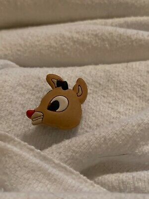 Crocs Shoe Charm Rudolph The Red Nose Reindeer NWOT Unbranded