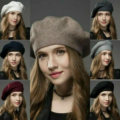 Winter Knit Hat Wool Cashmere Woman Berets High Quality Casual Women Caps Girls