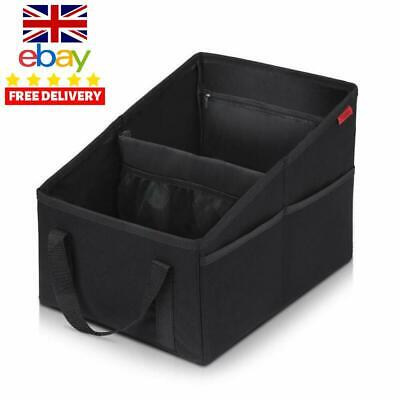 Front  Backseat Car Organiser - Foldable Car Seat Organiser With Movable Divide