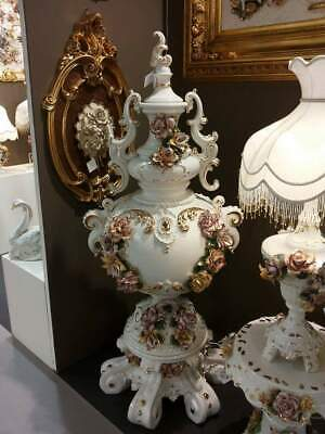 Beautiful and stunning VASE 190cm tall CAPODIMONTE Style ITALY