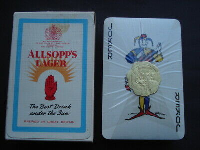 C1960S  Allsopp's Lager The Best Drink Under The Sun Unopened Adv Playing Cards