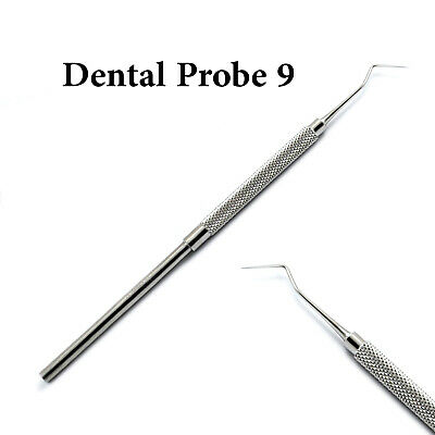 Dental Periodontal Probe 9 Diagnostic Tooth Cavity Tartar Removal Instruments