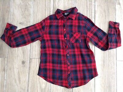 Girls New Look Shirt Age 9 Years Long Sleeved Red