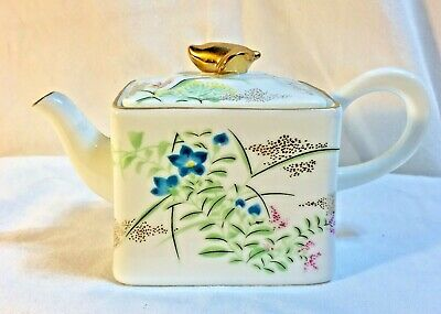 Victoria and Albert Museum 1995 Franklin Mint Miniature Teapot Kyoto Porcelain