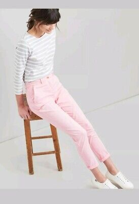 Joules Womens Hesford Chino in PALE PINK Size 12 new with tags rrp£49.95