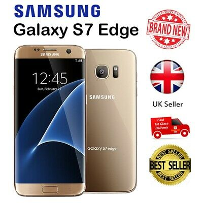 New Samsung Galaxy S7 Edge Smartphone Unlocked 32GB Mobile Phone Gold Platinum~