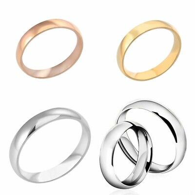 Jewelry Men Women 6mm Band Ring Wedding Polished Stainless Steel Rings