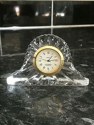 Quartz Clock Made From Cathedral Crystal