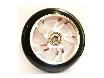 2X RS PRO EXTREME SILVER WHEELCHAIR CASTORS WHEELS 100mm OR 120mm 4 or 5 inch