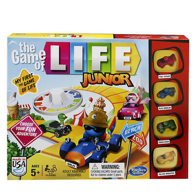 The Game of Life Junior Board Game - Family Gaming 2-4 Players Age 5+ Hasbro
