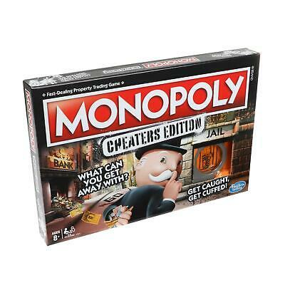 Hasbro Monopoly Cheaters Edition Kids Childrens Board Game Toy Gift 8 Years+