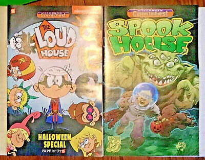 2 free comic book day Halloween Fest FCBD issues 2019 Loud House & Spook House