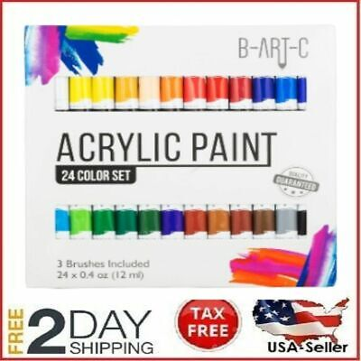 Acrylic Paint Set Drawing Painting Art Kit For Kids Teens 24 Professional Adults