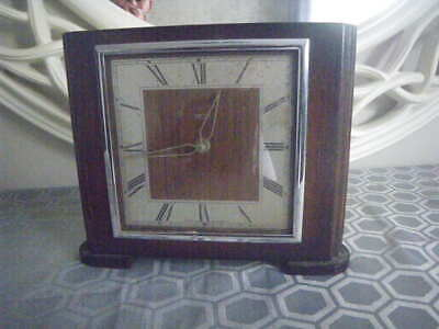 Vintage SMITHS Art Deco 8 Day Mantle Clock. Oak Wood Case.  Repair Project