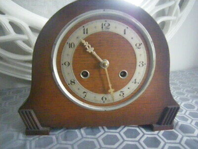 Vintage BENTIMA Wooden Mantle Clock. With Chime.