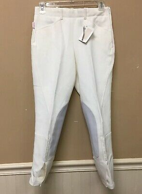 Tailored Sportsman Women's Classic White Breeches 26 NWT