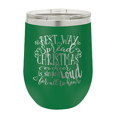 Personalized Christmas Holidays Wine Tumbler **Personalize it Your Way! FREESHIP