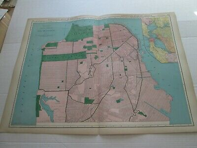 ONE (1) 1923 RAND McNALLY MAP, CITY AND COUNTY OF SAN FRANCISCO