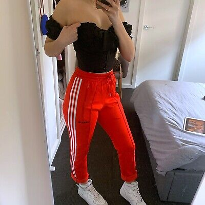 Red Adidas Tracksuit Pants, Size Xs
