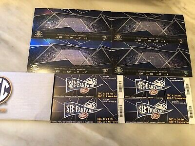 4 Sec Championship Football Tickets Georgia Lsu Lower Level Sideline Aisle Seats