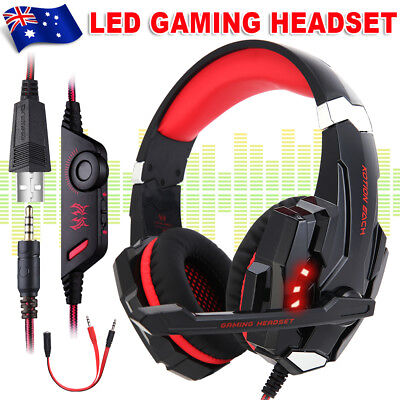 3.5mm G9000 LED Gaming Headset MIC Headphones for PC Laptop PS4 Xbox One 360