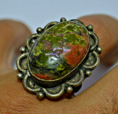 Ancient STYLE ROMAN BRONZE RING WEARABLE very unique type stone