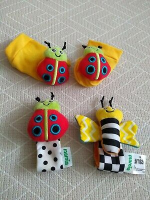 Mamia baby wrist and feet rattle toys