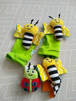 Mamia baby wrist and feet rattle toys - green