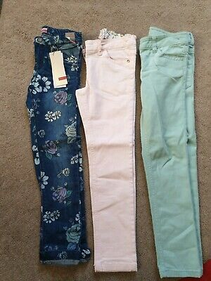 3 Pairs Girls Jeans/trousers Age 7