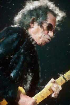 Keith Richards original paintings in acrylic on canvas by Brian Tones