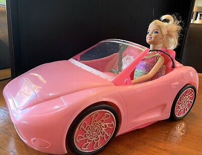 Barbie Doll In Pink Convertible Sports Car Glamorous Outfit Barbie Included.