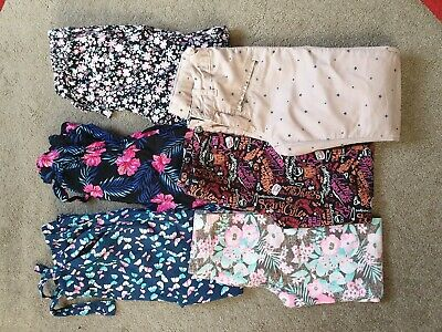 6 Pairs Girls Trousers Age 7-8