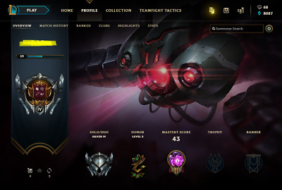 League of Legends Account | LoL Acc | NA | Silver 5 | 85 champ 108 skins