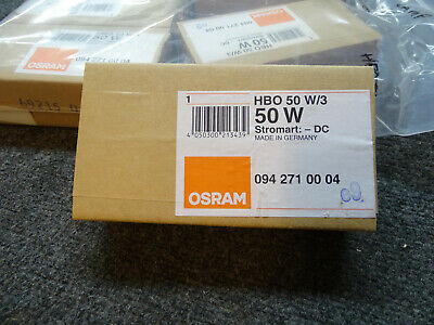Brand New Genuine Osram HBO 50 W/3 Mercury Short Arc Double-Ended Lamp Bulb