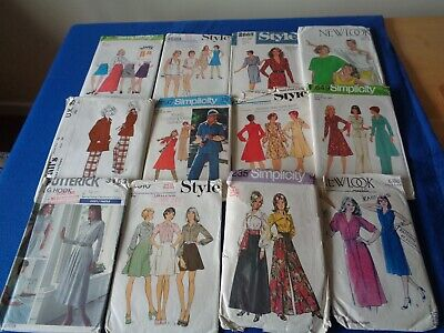 32 Sewing Patterns For Lady Inc. Vintage-  Mixed Items   Size 12 Unchecked