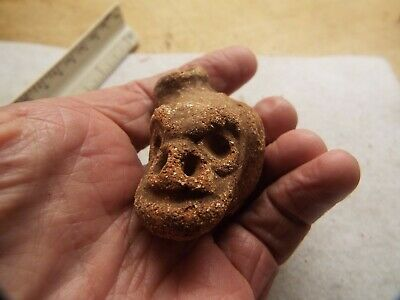 Pre-Columbian PRIMITIVE  CLAY FIGURE HEAD